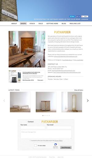 Lillie Road Association shop profile template, desktop layout