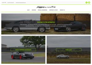 The PSR Automotive homepage, desktop layout