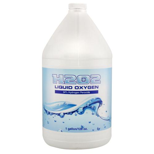 H2O2 Liquid Oxygen 34% Gallon (4/Cs) (OR Label)