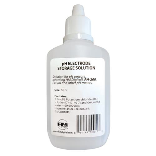 HM Digital pH Electrode Storage Solution - 60 cc / 2 oz (10/Cs)