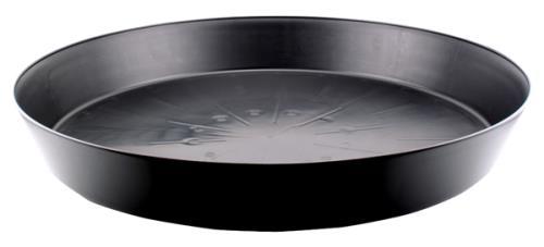 Black Premium Plastic Saucer 25 in (5/Cs)