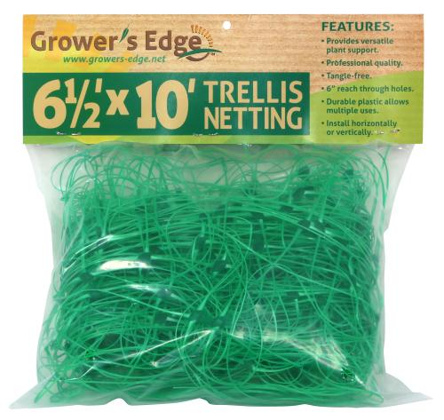 Grower's Edge Green Trellis Netting 6.5 ft x 10 ft (24/Cs)
