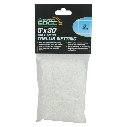 Grower's Edge Soft Mesh Trellis Netting 5 ft x 30 ft w/ 6 in Squares (12/Cs)