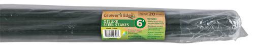 Grower's Edge Deluxe Steel Stake 7/16 in Diameter 6 ft (20/Bag)