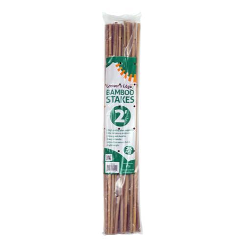 Grower's Edge Natural Bamboo 2 ft - 25/Bag (20 Bags/Bundle)