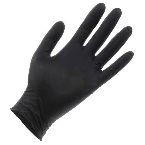 Black Lightning Powder Free Nitrile Gloves Medium (100/Box)