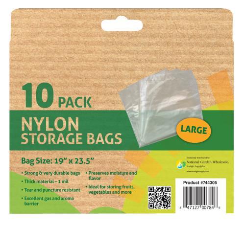 Grower's Edge Nylon Storage Bag - 1 mil 19 in x 23.5 in - 10/Pack (12/Cs)
