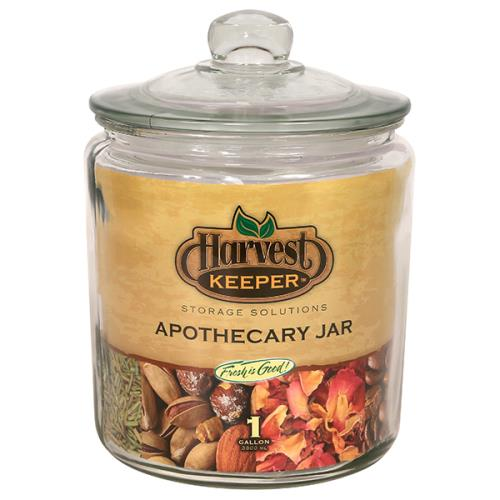 Harvest Keeper Glass Storage Apothecary Jar w/ Sealed Lid - 1 Gallon