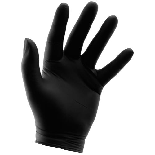 Grower's Edge Black Powder Free Nitrile Gloves 6 mil - X-Large (100/Box)