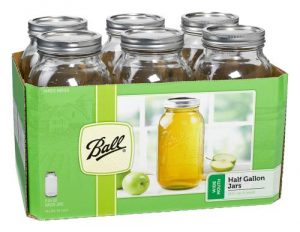Ball Jars Wide Mouth Half Gallon (6/Cs)