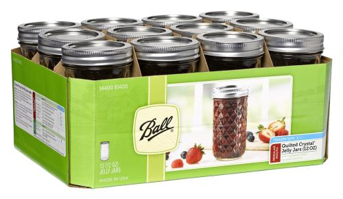 Ball Jars Quilted Crystal Jelly 12 oz (12/Cs)