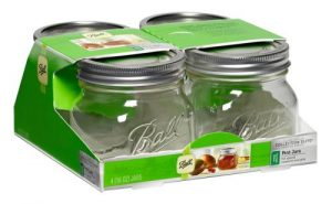 Ball Jars Collection Elite Wide Mouth Pint 4/Pack (16/Cs)