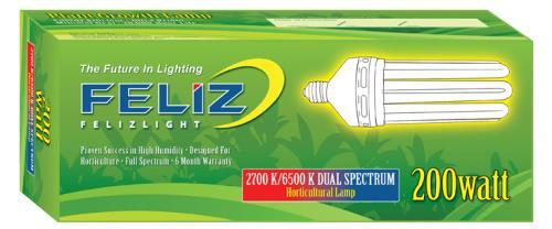 Feliz Dual Spectrum Fluorescent 200 Watt (12/Cs)
