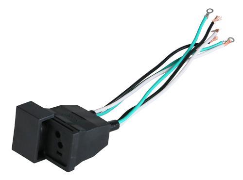 Dual Female Lamp Cord Receptacle