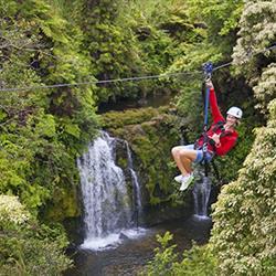 Product Waterfall Zipline