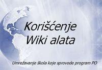 Korišćenje wiki alata za umrežavanje škola koje sprovode PO -- by Profesionalna orijentacija u OŠ Čegar-Niš
