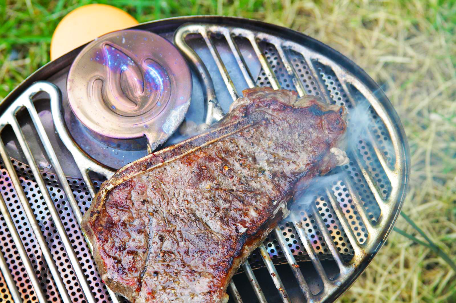 BioLite Portable Grill and steak make a good pair