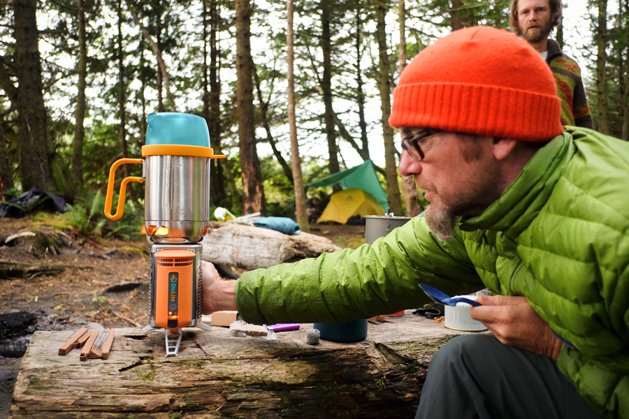 Campsite with the BioLite Wood Burning CampStove