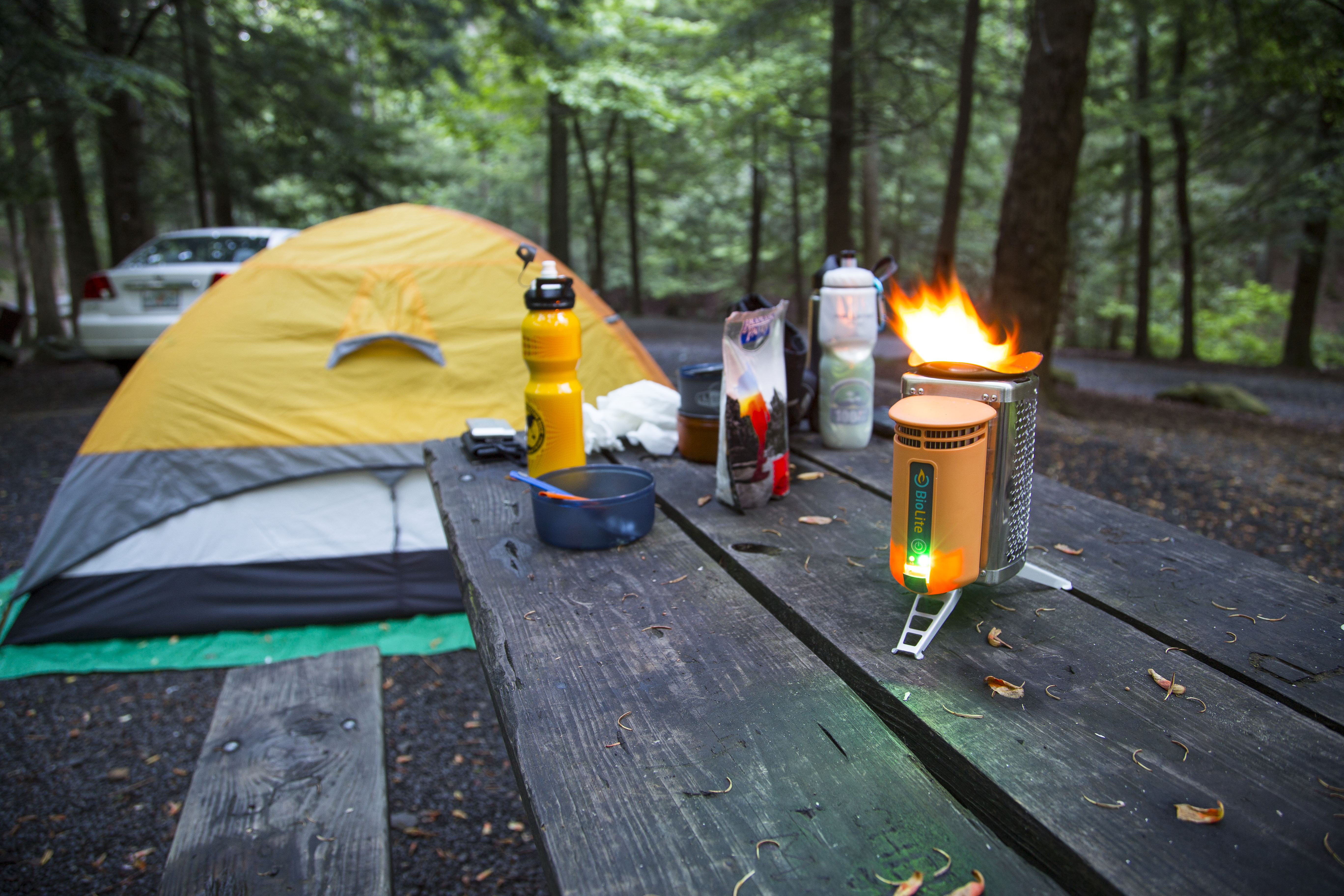 The BioLite CampStove at Mammoth Park