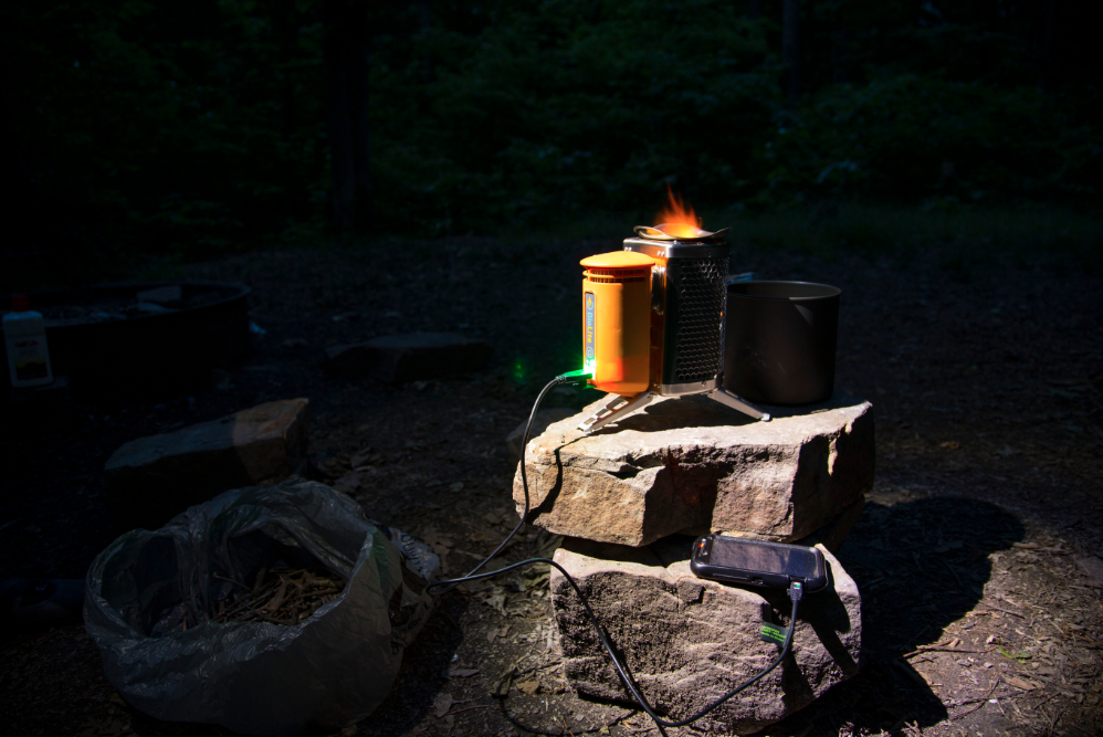 BioLite CampStove burns long into the night