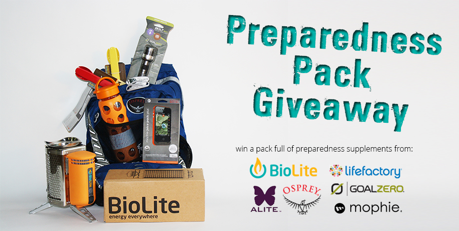 Preparedness Pack Giveaway