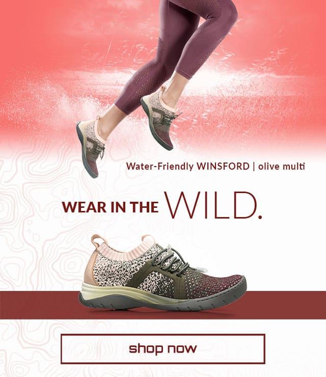 Wear in the Wild. Shop now. Water friendly Winsford sneaker olive-multi. Shop Winsford sneaker.