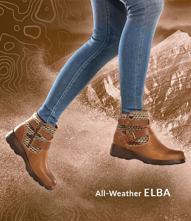 Featured style: All-weather Elba boot, shown in Almond Tan.  Shop Elba now