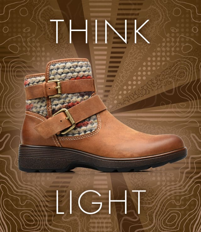 Think Light. Elba boot, shown in Almond Tan.  Shop Elba now