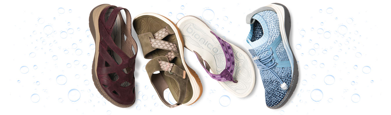 featured styles: Maclean 2 in eggplante, Nahla in olive, Nimah in purple, Winsford in blue multi