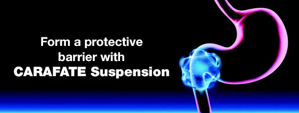 Form a protective barrier with Carafate Suspension
