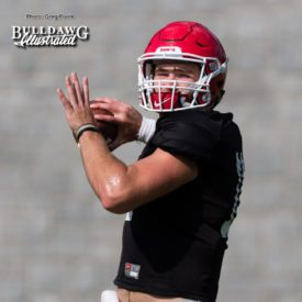 Jake Fromm prepares to be the starter at QB versus Notre Dame in place of injured Jacob Eason - UGA football practice - Monday, Sept. 4, 2017