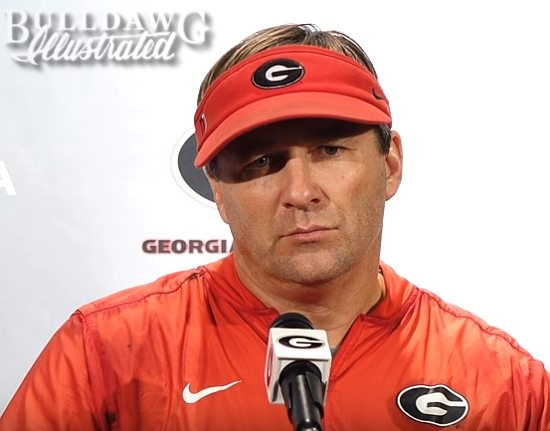 Kirby Smart during his Tuesday post-practice press conference, Oct. 10, 2017