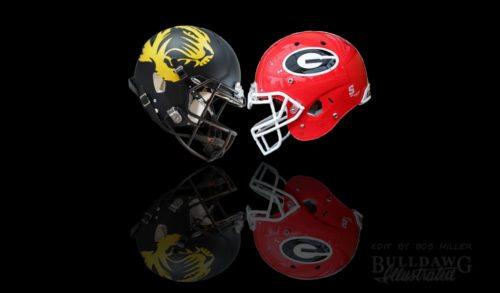 UGA vs. Missouri 2017 helmet edit by Bob Miller