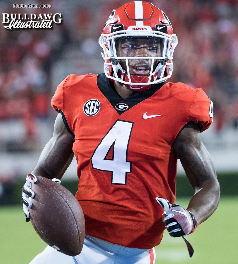 Mecole Hardman, Jr. (4) - UGA vs. Missouri - Saturday, Oct. 14, 2017