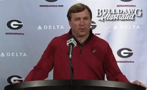 Kirby Smart during his Monday press conference, October 23, 2017
