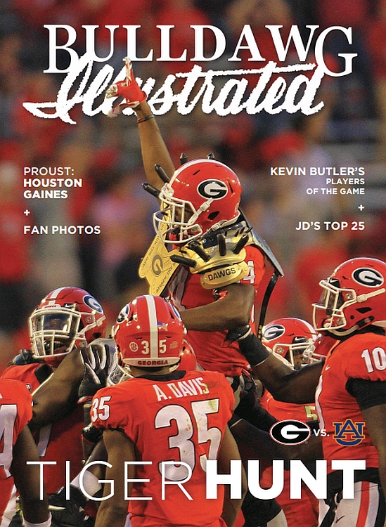 Bulldawg Illustrated cover for 2017, Vol 15, Issue 12 - Tiger Hunt