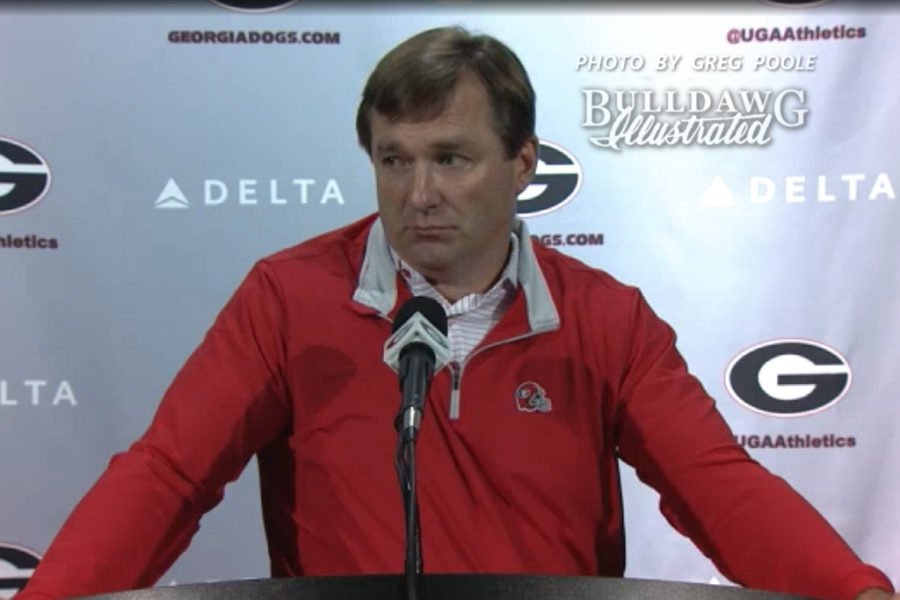 Kirby Smart during his Monday press conference, Nov. 13, 2017