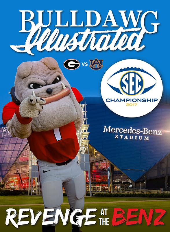 Bulldawg Illustrated cover for 2017, Vol 15, Issue 15 Revenge at the Benz