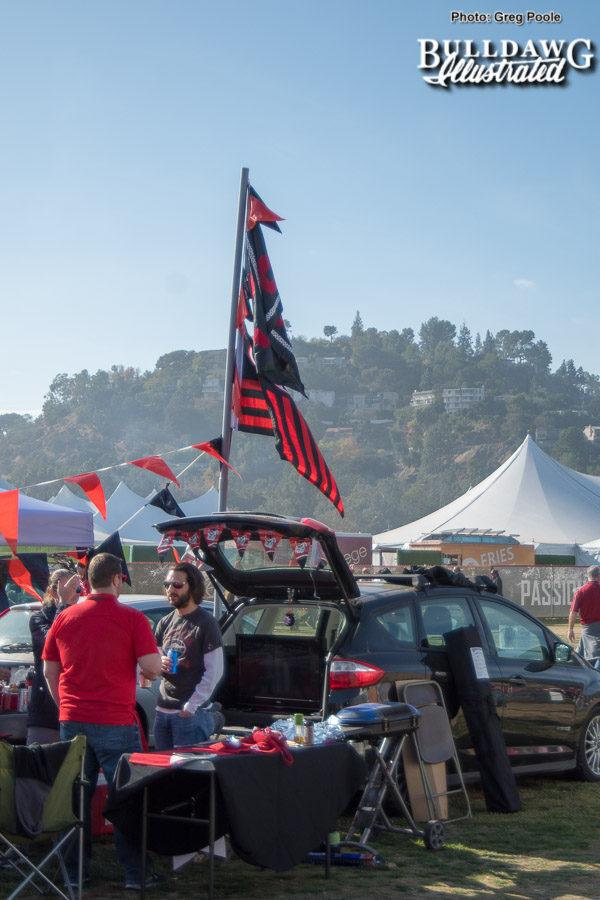 Georgia fans tailgating prior to the Rose Bowl game -  Monday, Jan. 1, 2018 -