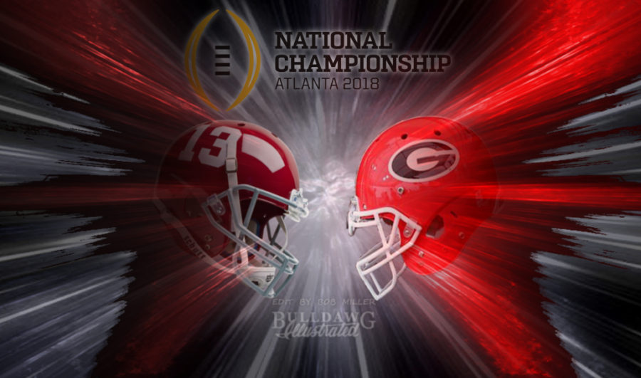 Georgia vs. Alabama CFP Nat'l Championship helmet edit 002 by Bob Miller