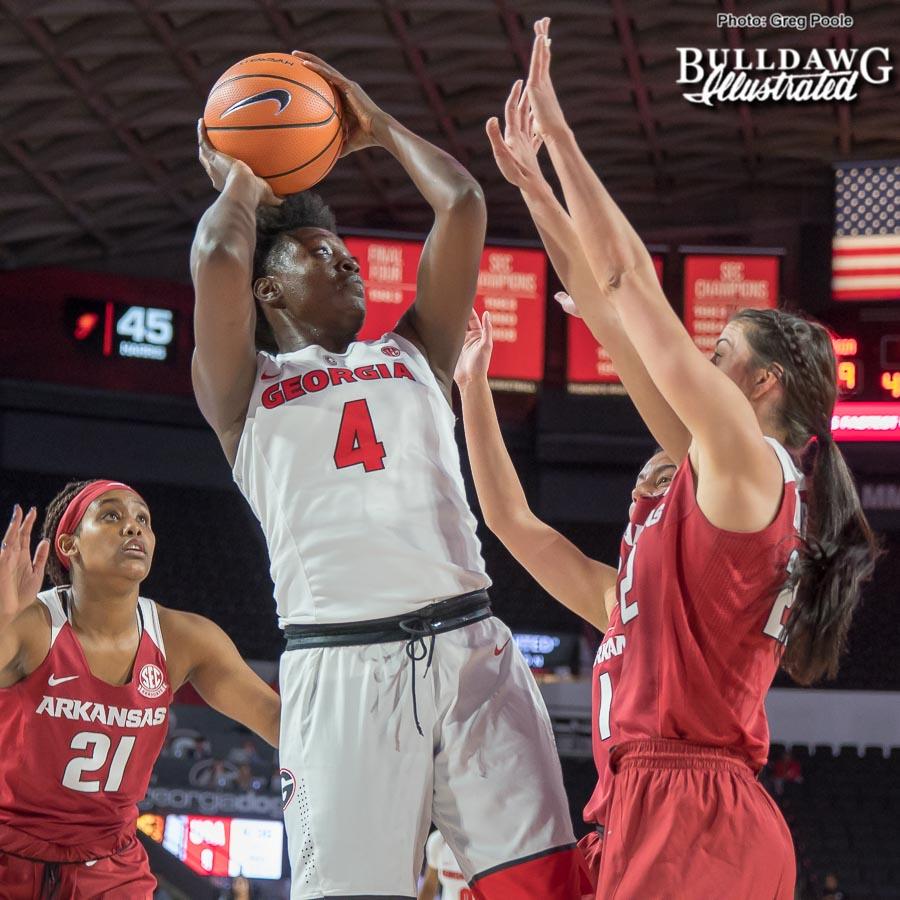 Caliya Robinson – Georgia vs. Arkansas – January 11, 2018