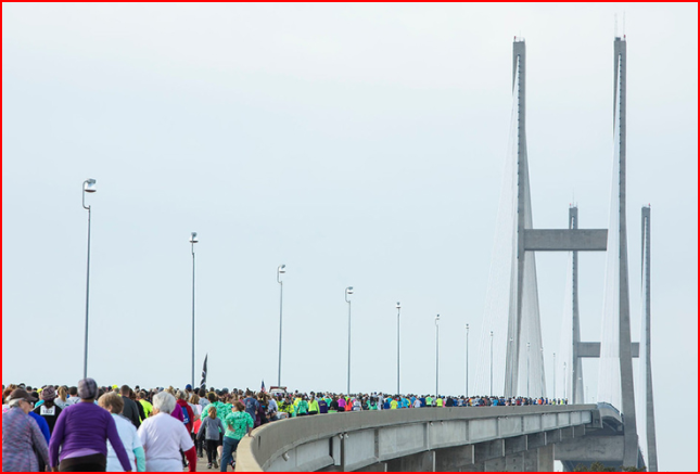 Sidney Lanier Bridge during The Bridge Run