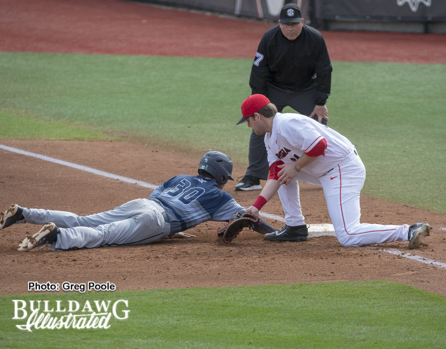 First baseman Adam Sasser – Georgia vs. Georgia Southern – February 17, 2018
