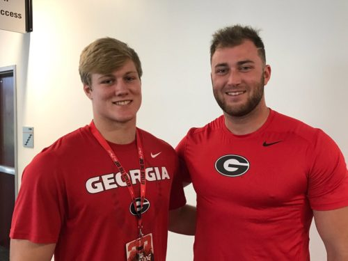 JD Bertrand and UGA's Isaac Nauta. Photo By: @JDBertrand1