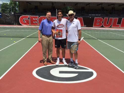 BB&T tournament director Eddie Gonzalez, Emil Reinberg and head coach Manuel Diaz. Photo courtesy of Tray Littlefield