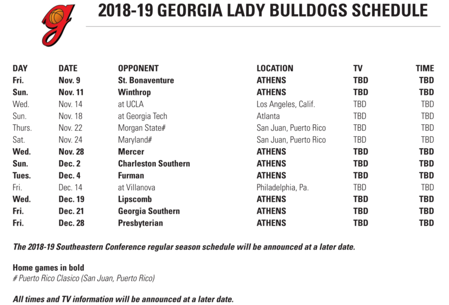2018-19 WBB Non-Conference Schedule
