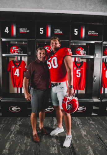 Kirby Smart and Tate Ratledge Photo By @tateratledge22 Twitter