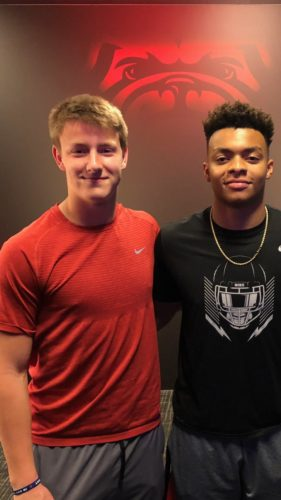 Max Johnson and Justin Fields. Photo: @qbmjohnson2020