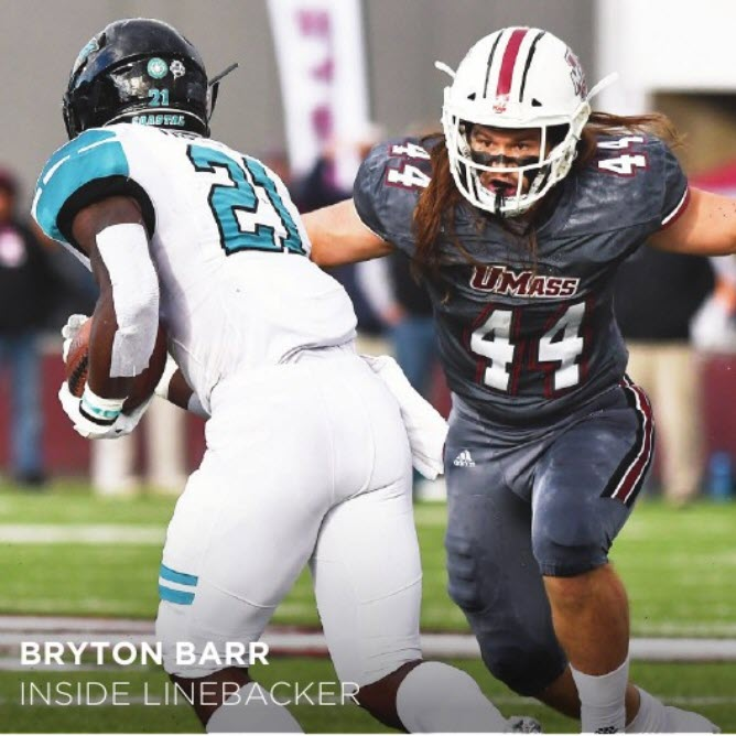 Bryton Barr - Photo: UMass Athletics