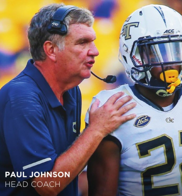 Paul Johnson (Photo by Ga. Tech Athletics/Jeffrey Gamza